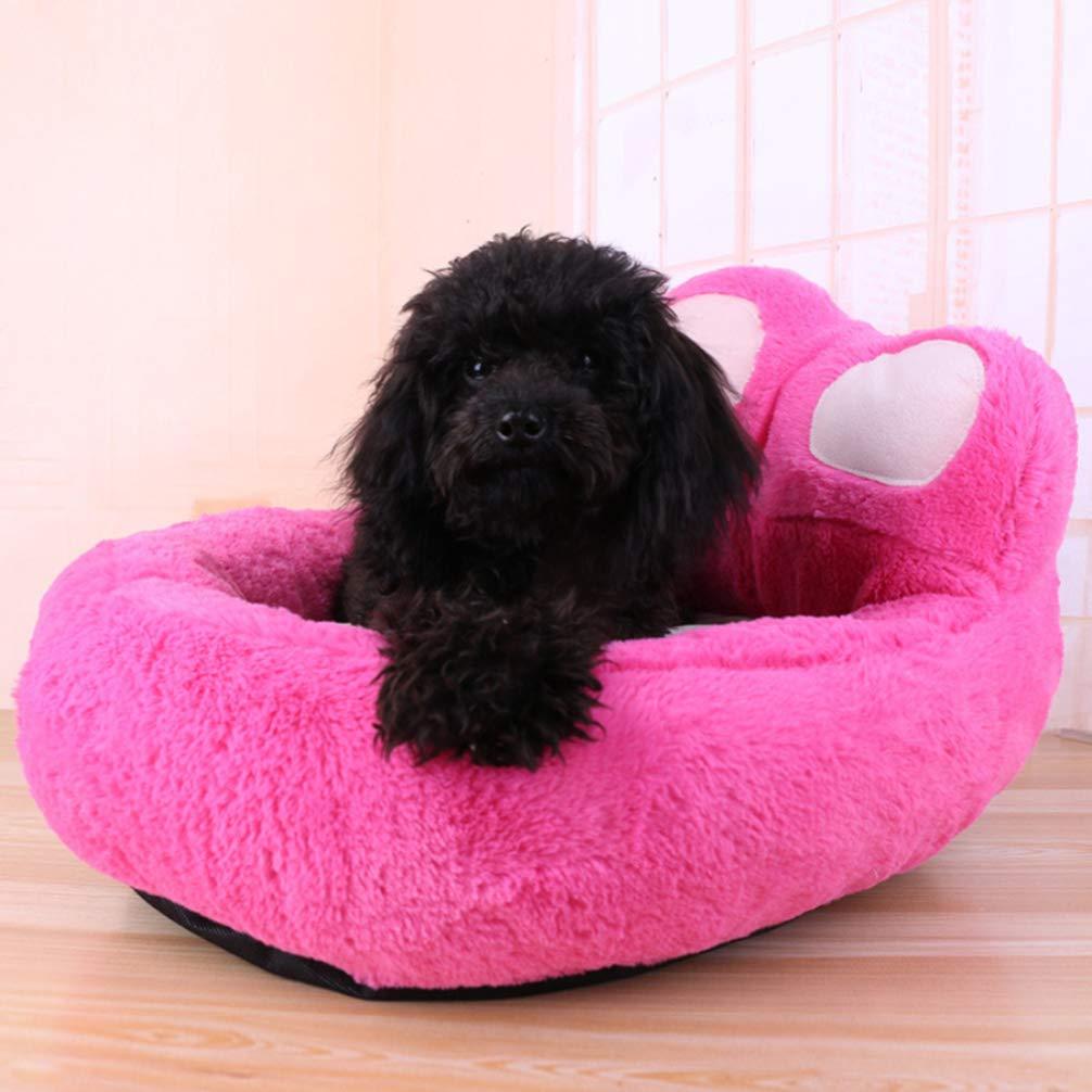 LA VIE Cama Sofá Redondo para Mascotas Forma de Garra Cesta Linda de Perros con Cojín Extraíble Casa Cama Nido Cómoda para Gatos y Perros L en Roja: ...