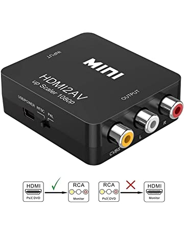 Asbter HDMI a AV RCA Adaptador / Conversor HDMI a AV RCA / HDMI a AV
