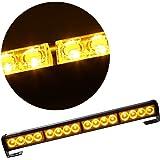 Rupse - Luces de emergencia para vehículo, luz estroboscópica (ámbar), 45 cm