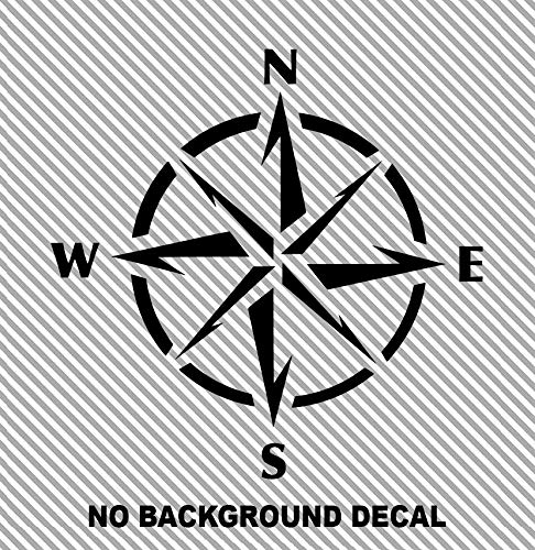 Compass Naval Ship Nautical Star Sailing Boat Ocean Sea Car Truck Suv Rear Window Glass Decal Sticker Laptop V1 MANY SIZES and COLORS