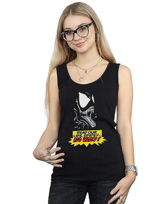 Marvel Mujer Venom No Way Camiseta Sin Mangas: Amazon.es: Ropa y accesorios