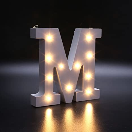 gladle led letter lights alphabet light up sign up for wedding home party bar decoration warm