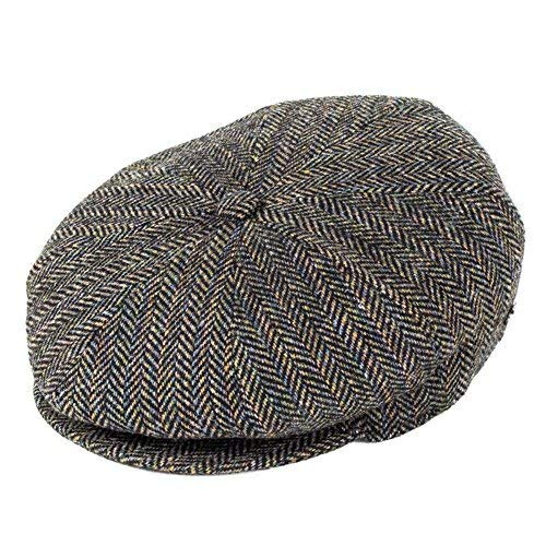 Bailey Hats Galvin Wool Bakerboy Cap - Black Herringbone  Amazon.co.uk   Clothing 56d75202c9f