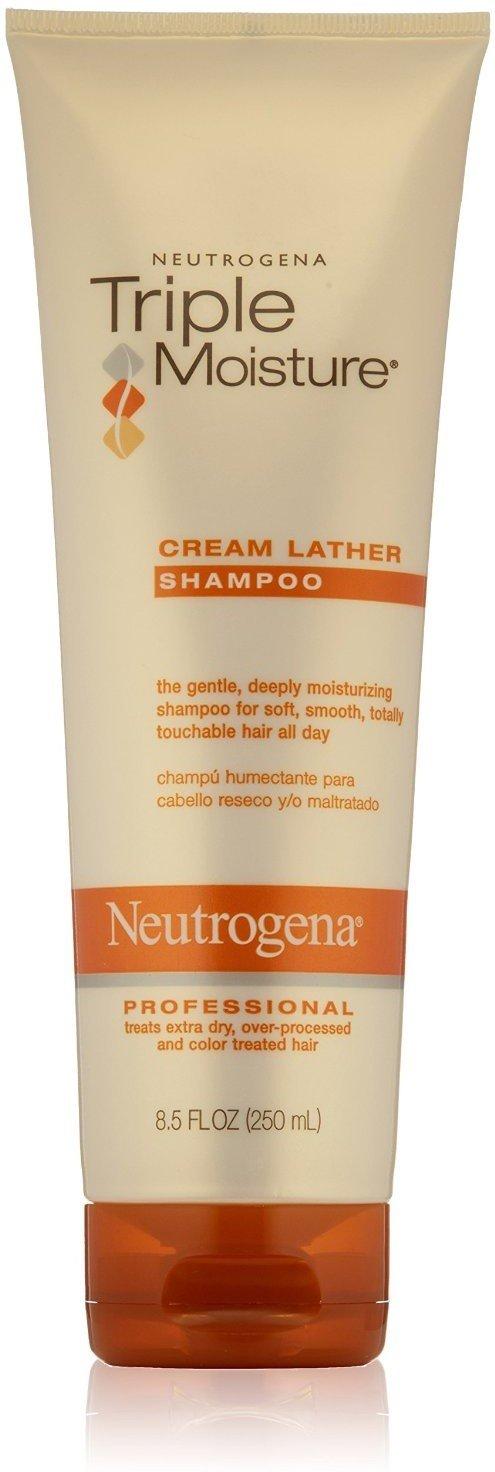 Neutrogena Triple Moisture Cream Lather Shampoo 8.50 oz (Pack of 4) by Neutrogena