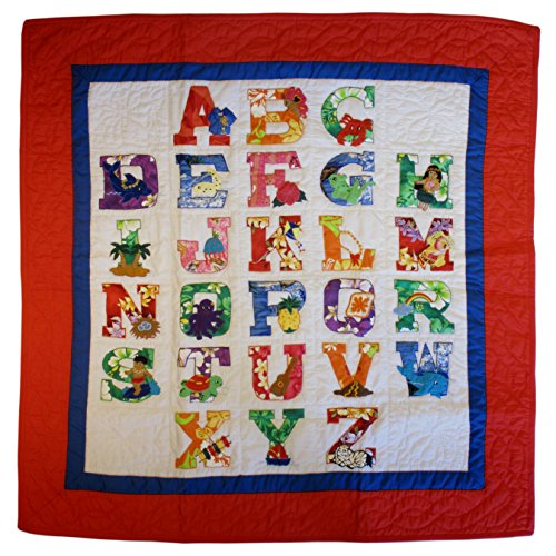 Hawaii Style Baby Quilt or Wall Hanging ABC Primary Colors