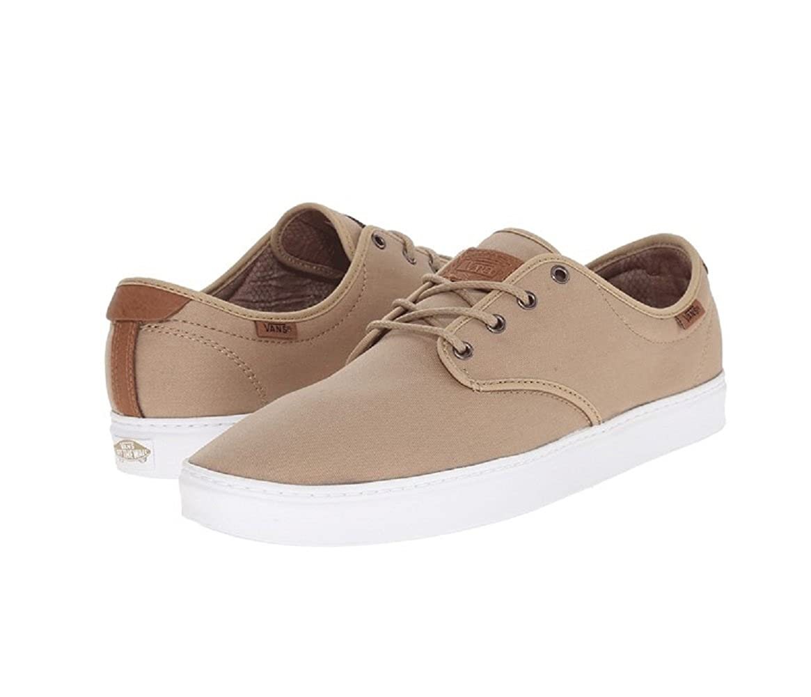 Amazon.com | Vans Mens Ludlow + (T&L) Khaki/White US 7 Skateboarding Shoes | Skateboarding