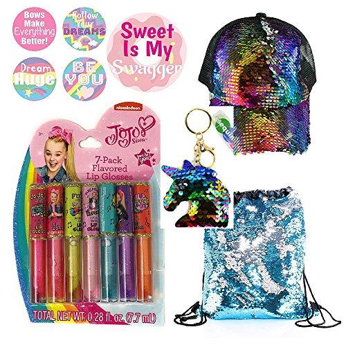 Jojo Siwa Lip Gloss 7-Flavored Ultimate Sequin Gift Set For Girls
