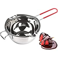 [New Upgrade] Stainless Steel Double Boiler Pot 600ML with Heat Resistant Handle for Melting Chocolate, Butter, and…