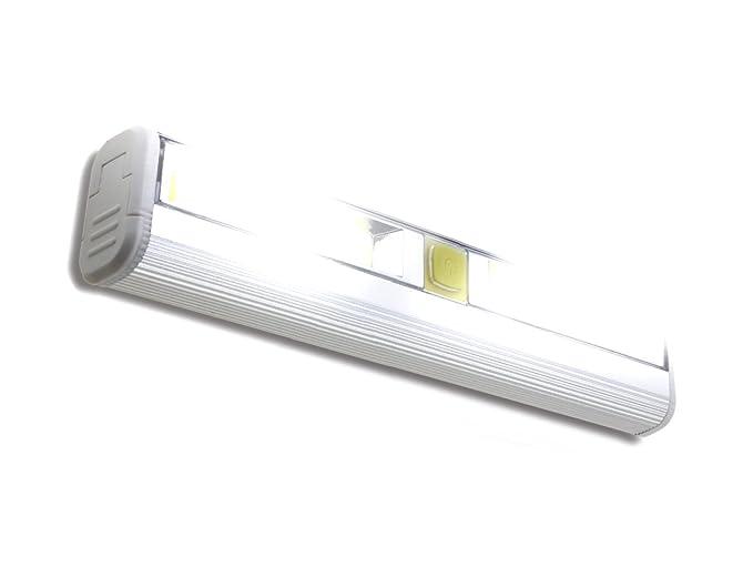 Superbe Magnetic Under Cabinet LED Light Bar U2013 Super Bright COB Lighting Battery  Operated Stick On Or