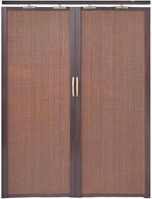 Jcnfa-Roller Cortina de bambú plegable puerta corredera doble izquierda y derecha partición cortina cocina dormitorio balcón parasol alta tasa de sombreado, bambú, marrón oscuro, W45cm XH60cm: Amazon.es: Hogar