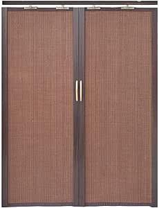 Jcnfa-Persianas Cortina De Bambú Puerta Corredera Plegable Doble Izquierda Y Derecha Cortina De Particion Cocina Dormitorio Balcón Sombrilla. Alta Tasa De Sombreado: Amazon.es: Hogar
