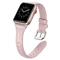 Dolank pour Apple Watch Bracelet 38mm/42mm, Chic&Rétro Bracelet en Cuir Remplacement Fitness Accessoires avec Boucle en métal pour iWatch, Nike+, Series 3 2 1, Edition 8 Couleurs