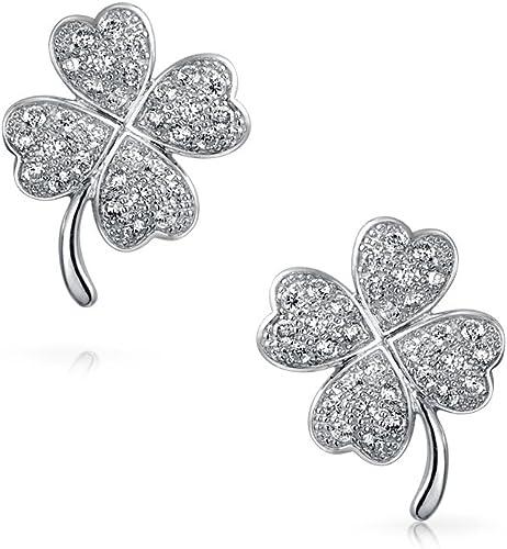 Round Glitzs Jewels 925 Sterling Silver Cubic Zirconia CZ Stud Earrings for Women Green 3mm