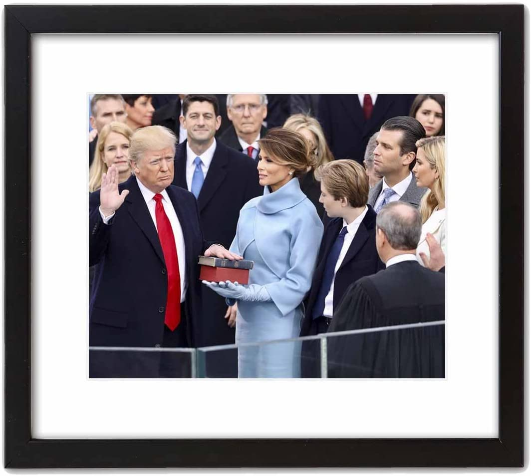 Wall Art Print ~ U.S. National Photo: President Trump Inauguration - as he is Being Sworn in (8