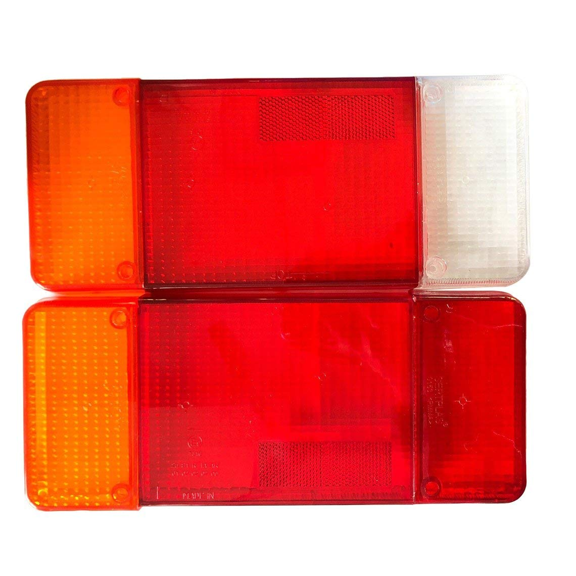 Zinniaya A Pair Of For Logos Citroen Fiat Iveco DAILY EUROCARGO Rear Tail Light Housing Cover