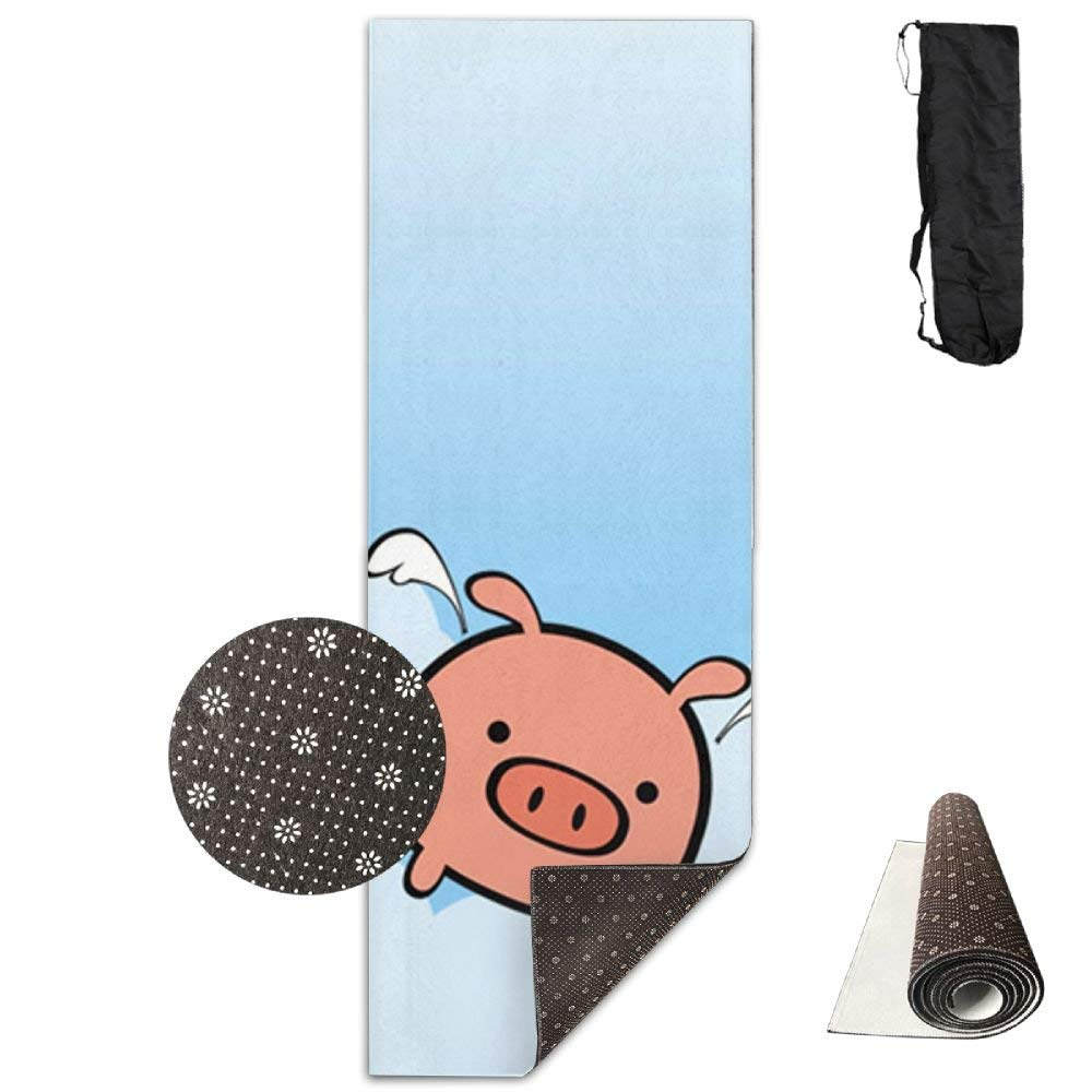 Flying Piggy Blue Sky Deluxe,Yoga Mat Aerobic Exercise Pilates Anti-slip Gymnastics Mats by HOTSELL-Makemoney.forever (Image #1)