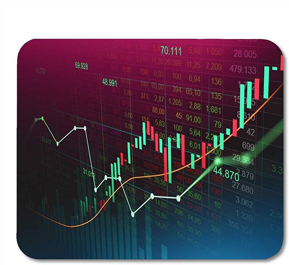 Mouse Pad Stock Market Trading Gráfico En Futurista Adecuado para Financial Mousepad para Computadoras De Escritorio Alfombrillas para Mouse