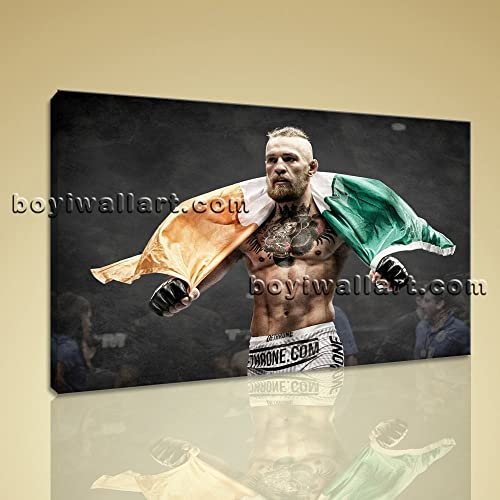 Large Conor Mcgregor Ufc Sport Contemporary Canvas Wall Art Print Ready To  Hang, Large Boxing