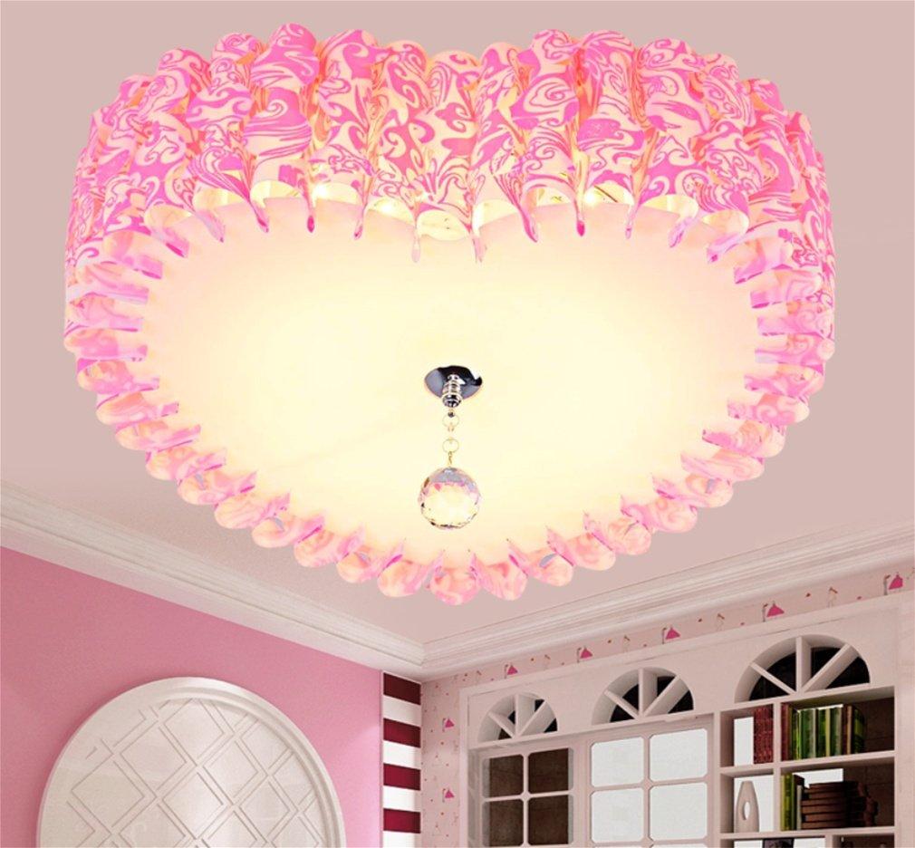 MOQJ Blütenblatt Runde Decke (Durchmesser 50cm) Wohnzimmer Licht Deckenleuchte Kronleuchter Runde Licht Balkon Licht Herzförmigen Gang Persönlichkeit