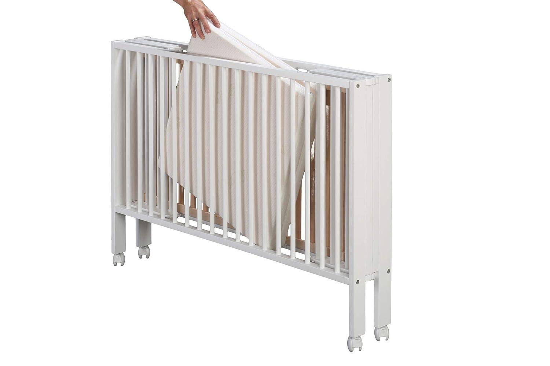 SchwabenKids® Tissi Faltbett Babybett Reisebett + Matratze + Schutzhülle klappbar faltbar weiß SchwabenKids® SK15-06-05