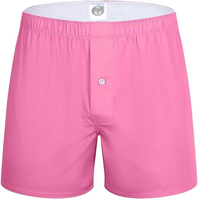 Yuanu Hombre Pantalones de Pijama Algodón Shorts Ropa de Dormir Pantalón Corto Rosa 3XL: Amazon.es: Ropa y accesorios