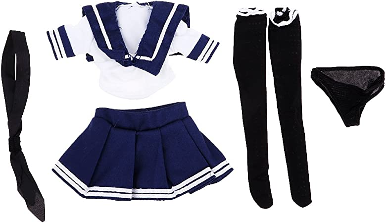 1//6 Scale Blue White JK Uniform Set for PHICEN Hot Toys Female Model Figure