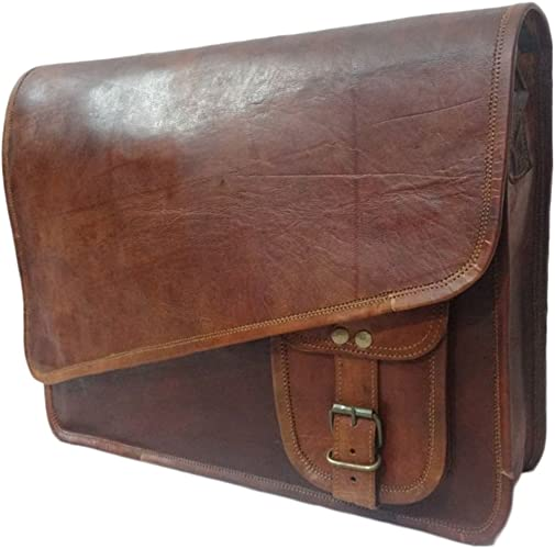 Genuine Leather Mens Vintage Laptop Shoulder Crossbody Messenger Bag Satchel New