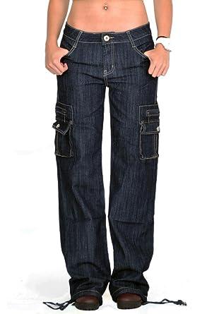 Pantalones Denim Cargo Militares para Mujer Jeans de Combate ...