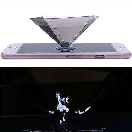 Amazon com: 3D Holographic Projector, OWIKAR 360°Full View DIY 3D