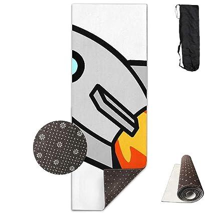 Amazon.com : HONGZHESM Yoga Mat Non Slip Cartoon Rocket ...