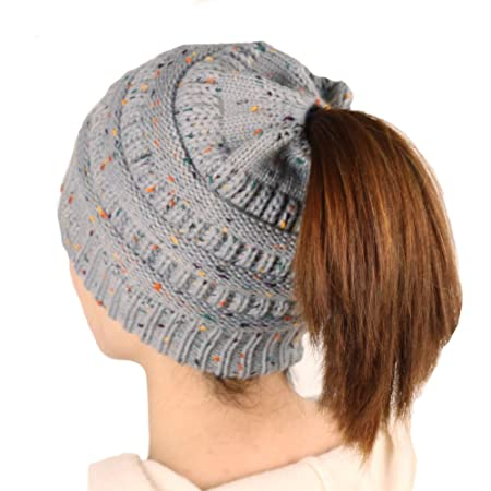 Stricken Sie Cap Weiche Warme Stricken Dicke Cap Mode Frauen