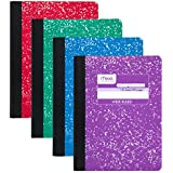 "Mead Composition Books/Notebooks, Wide Ruled Paper, 100 Sheets, 9-3/4"" x 7-1/2"", Fashion, Assorted Colors, 12 Pack (73389)"
