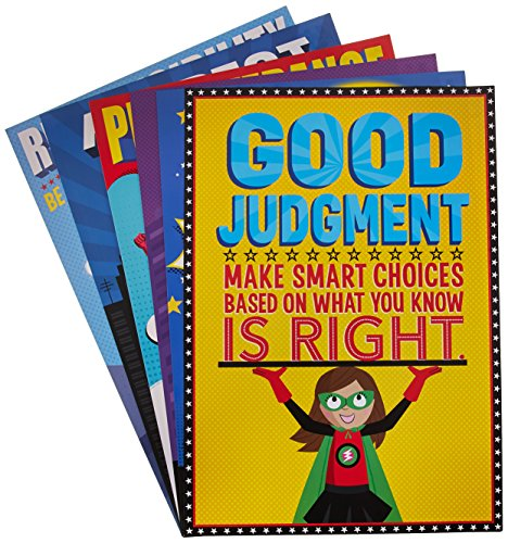 Character Education Poster (Creative Teaching Press Superhero Character Ed, Inspire U Poster 6 Pack (5649))