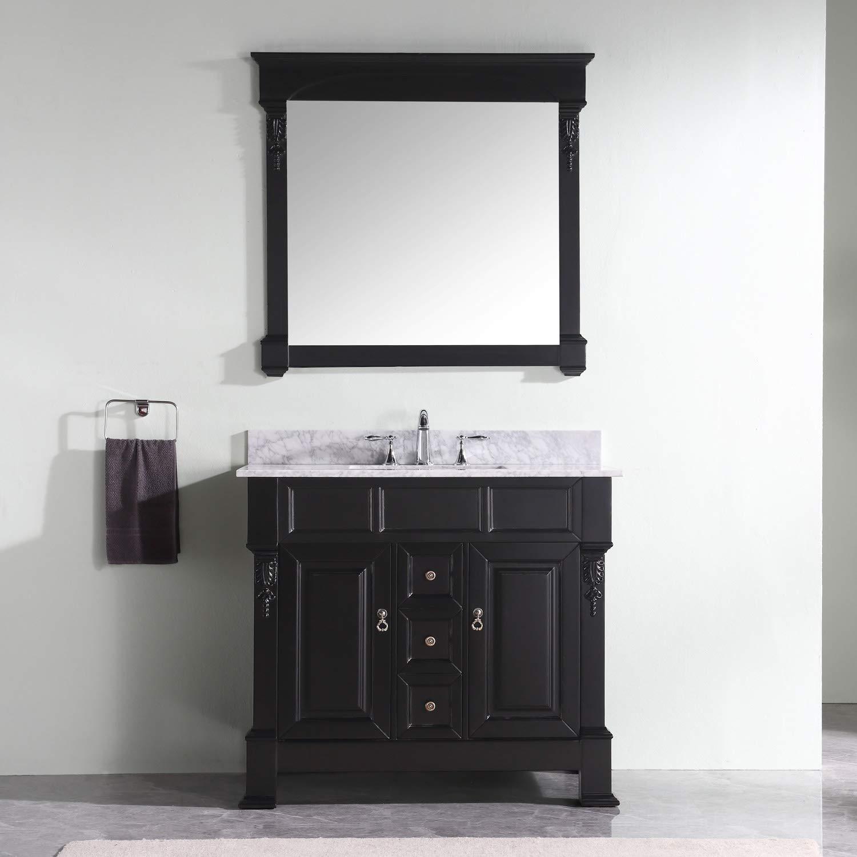 Virtu Usa Huntshire 40 Inch Single Sink Bathroom Vanity Set In Dark