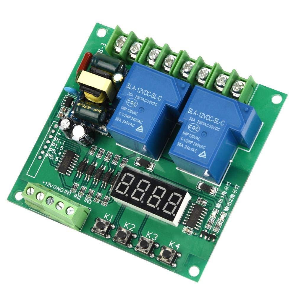 R/ückw/ärtssteuerplatine 220 V Digital Delay Timer Steuerungsschalter Motor Zeitrelais mit zwei Relaisverz/ögerungen LED Anzeige Vorw/ärts- Relaismodul