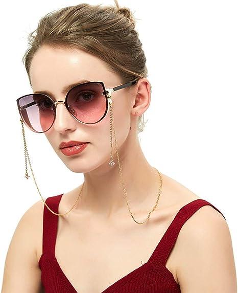 "Light Blue Bead Eye Glasses Sunglasses Cord Chain Holder 26/"" Necklace Lanyard"