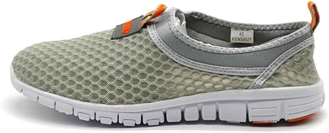 Deer Summer Flat Air Shoes,Mesh Shoes,Running,Exercise,Drive,Athletic Sneakers Orange EU41