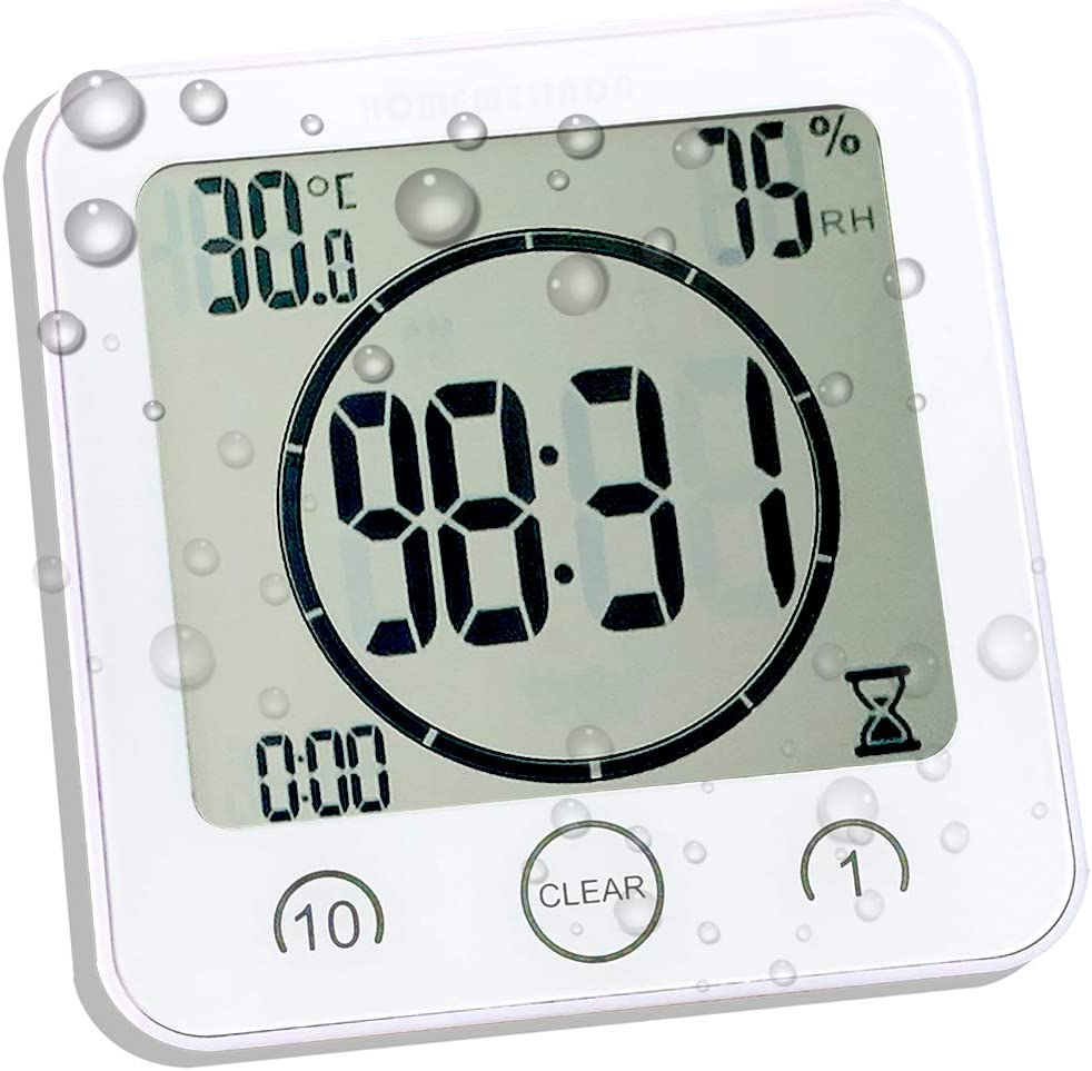 Amazon Com Waterproof Bathroom Clock And Timer For Shower