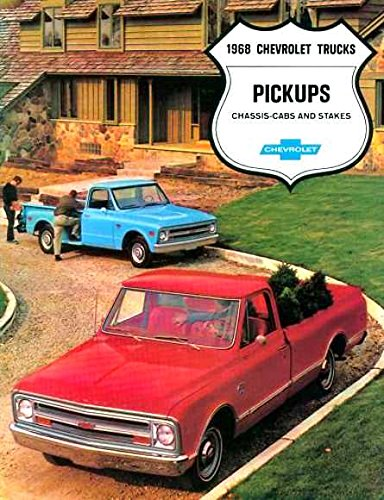A MUST FOR OWNERS, RESTORERS & COLLECTORS - THE 1968 CHEVY PICKUP TRUCK DEALERSHIP SALES BROCHURE - INCLUDES; Fleetside, Stepside, Chassis Cab, Stake, Custom Campers, C 10, C 20, C 30, 2WD & 4WD - ADVERTISMENT - LITERATURE - CHEVROLET 68