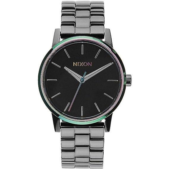 NIXON Reloj Analógico para Mujer de Cuarzo con Correa en Acero Inoxidable A361-1698-00: Amazon.es: Relojes