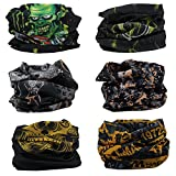 Outdoor Magic Headband Elastic Seamless Bandana Neck Scarf Balaclava UV Resistence Sport Headwear Headwrap Versatile 16-in-1 Sweatband Tube Mask for ATV/UTV Riding, Off Roader, Biker, Yoga (6pcs)