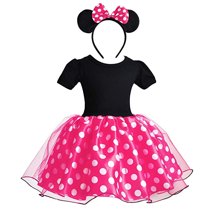 New girl/'s outfit set 2 pieces tutu skirt MInnie mouse design size2-6yrs