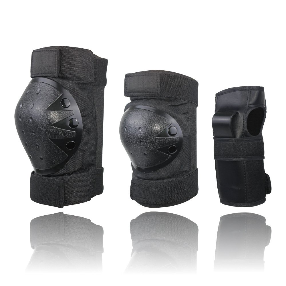 CCTRO Child Youth Adult Knee Pads Elbow Pads Wrist Guards 3 in 2 Protective Gear Set for Multi Sports Safety Protection Skateboarding, Roller Skating, BMX Bicycle Scooter, Biking