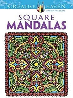 creative haven square mandalas coloring book creative haven coloring books - Mosaic Coloring Book