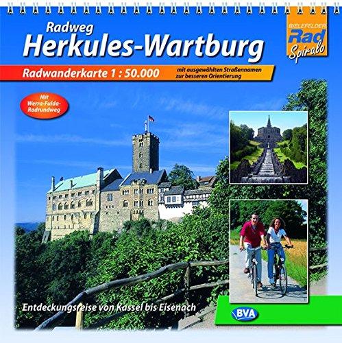 Quadrat-Spiralo BVA Radweg Herkules-Wartburg Entdeckungsreise von Kassel nach Eisenach Radwanderkarte 1:50.000