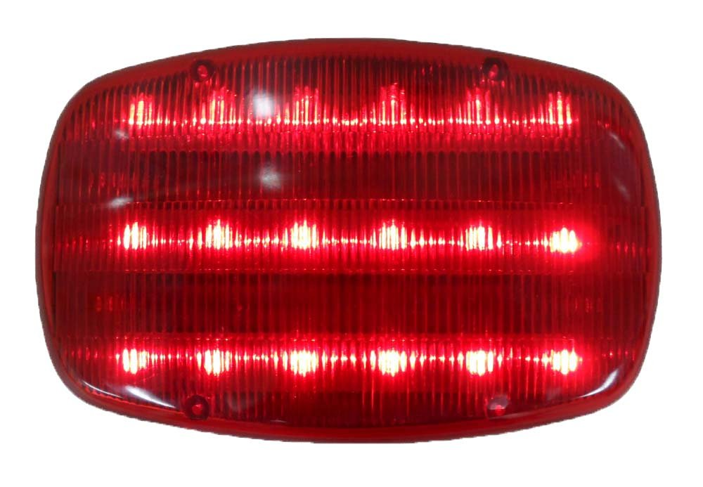 ROAD GENIE Highway Safety Steady/flashing Light With Magnetic Back - 18 Red LED light: FL250XXL-S