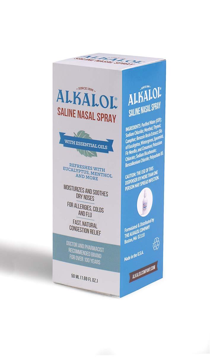 Alkalol Solution Saline Nasal Spray, 1 69 Ounce