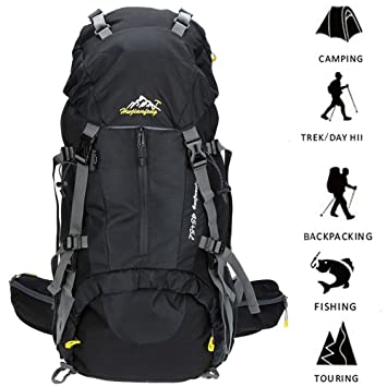 SMEAMUS 45L 5L Trekking Backpack Waterproof for Outdoor Travel ...