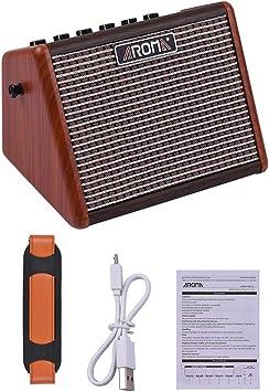 BLKykll Mini Amplificador Práctica para Guitarra Acústica,Portatil ...