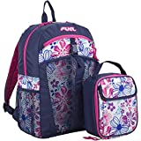 Fuel Backpack & Lunch Bag Bundle, Deep Cobalt Blue/Pink/Floral Print